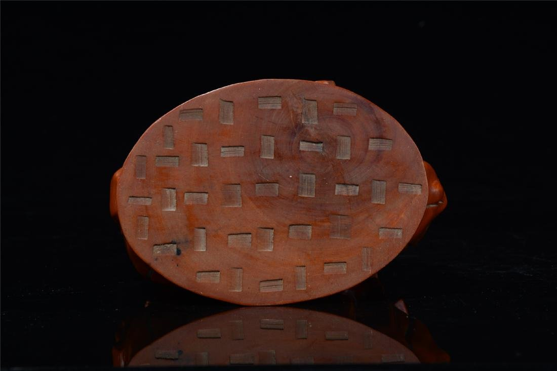 CHINESE BOXWOOD CARVED SCHOLAR'S TABLE ITEM - 9