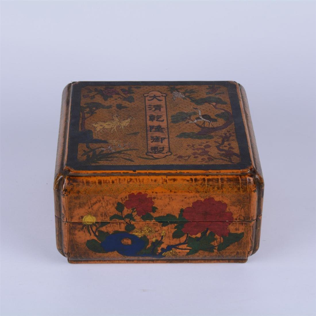 CHINESE LACQURE SQUARE BOX