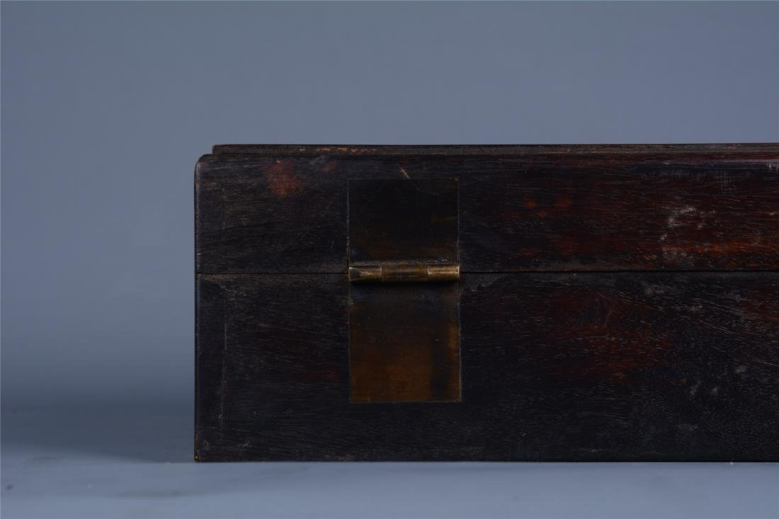 CHINESE ROSEWOOD BOOK CASE - 9