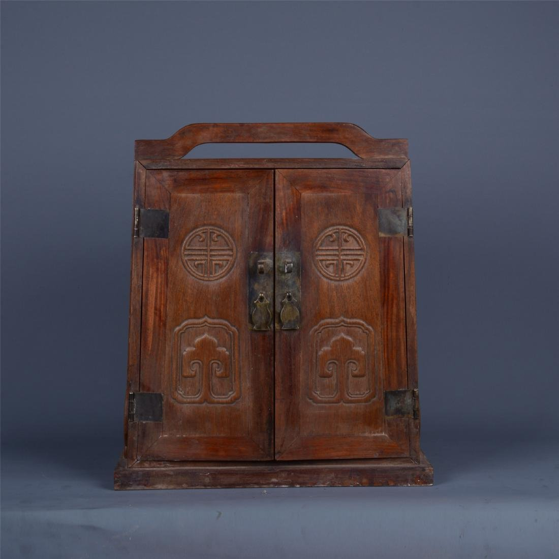 CHINESE ROSEWOOD BOOK CONTAINER