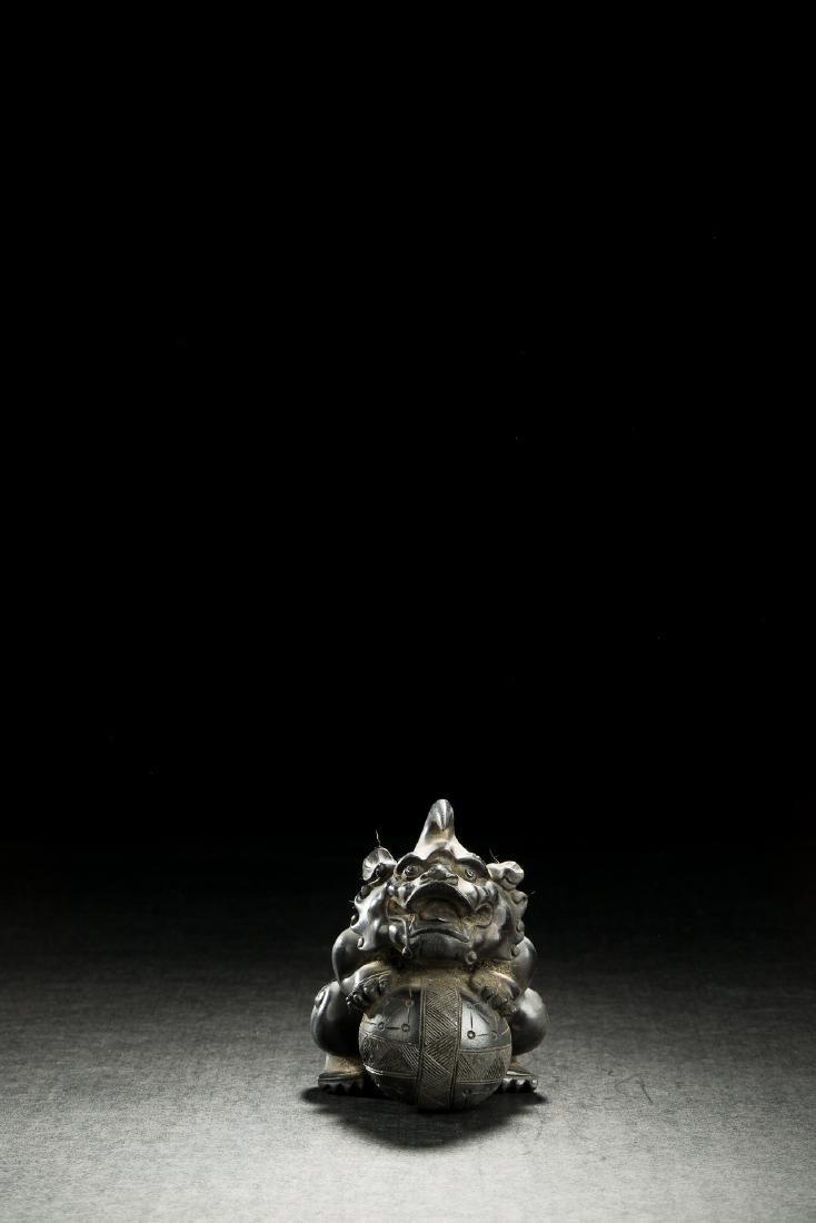 CHINESE ZITAN FOO DOG AND BALL