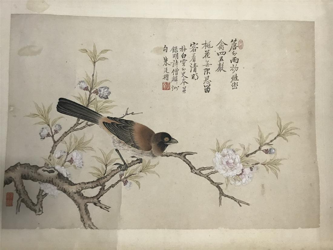 CHINESE ABLUM PAINTING OF BIRD AND FLOWER