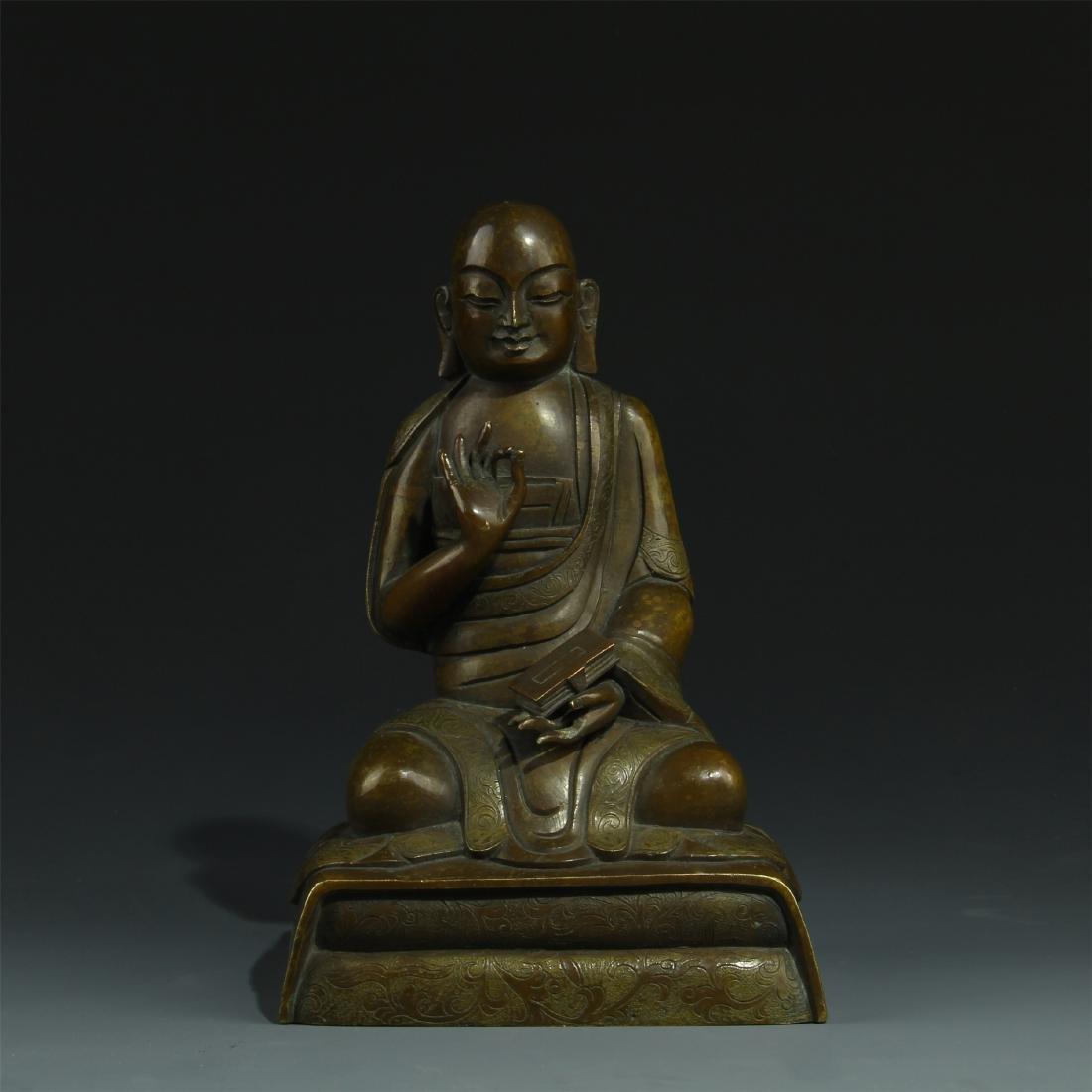 BRONZE SEATED BUDDHA