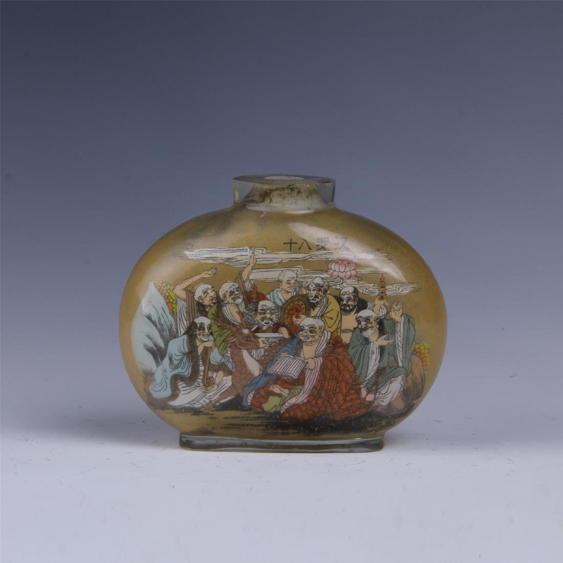 CHINESE GLASS INSIDE PAINTED SNUFF BOTTLE