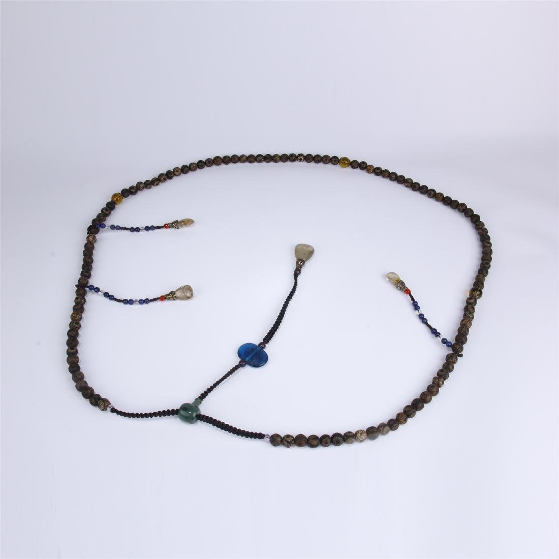 CHINESE AGATE BEADS CHAOZHU COURT NECKLACE