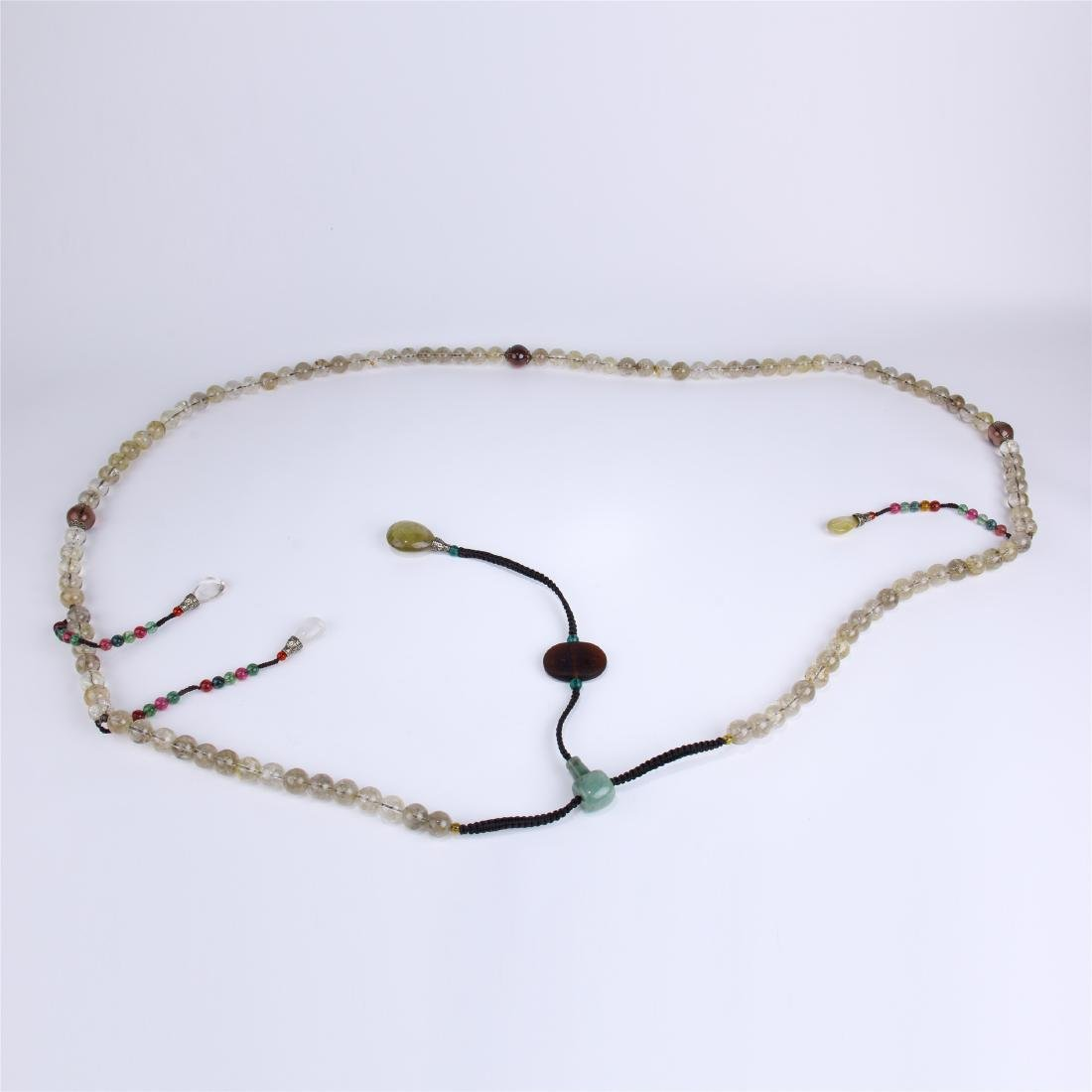 CHINESE ROCK CRYSTAL BEAD CHAOZHU COURT NECKLACE