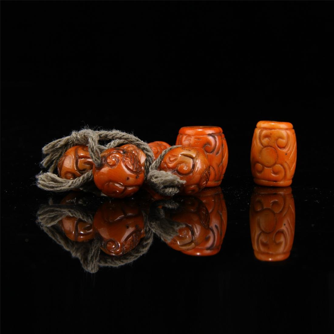 CHINESE RED AGATE BEADS