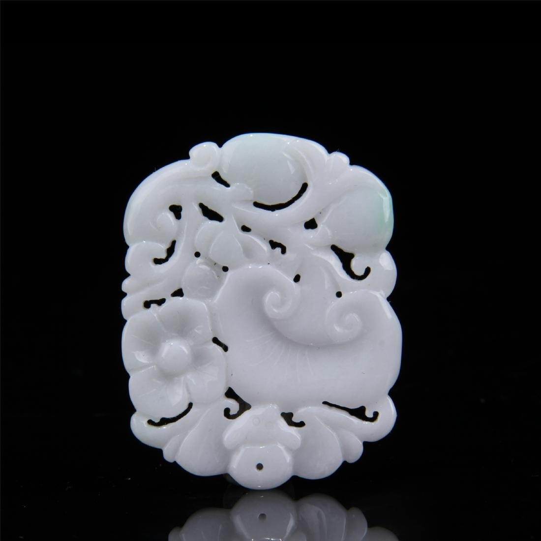 CHINESE JADEITE CARVED PLAQUE