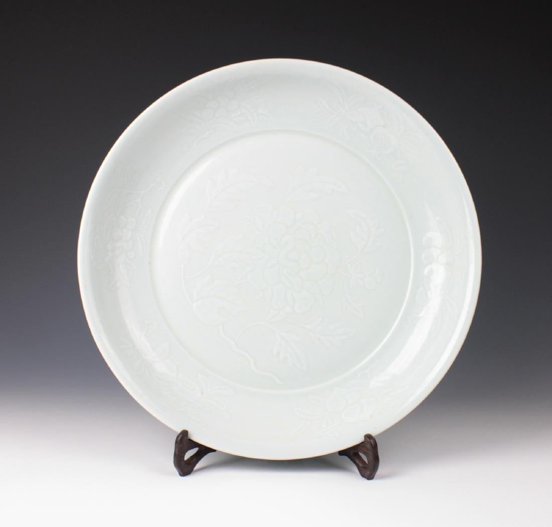 CHINESE PORCELAIN DINGYAO KILN PLATE