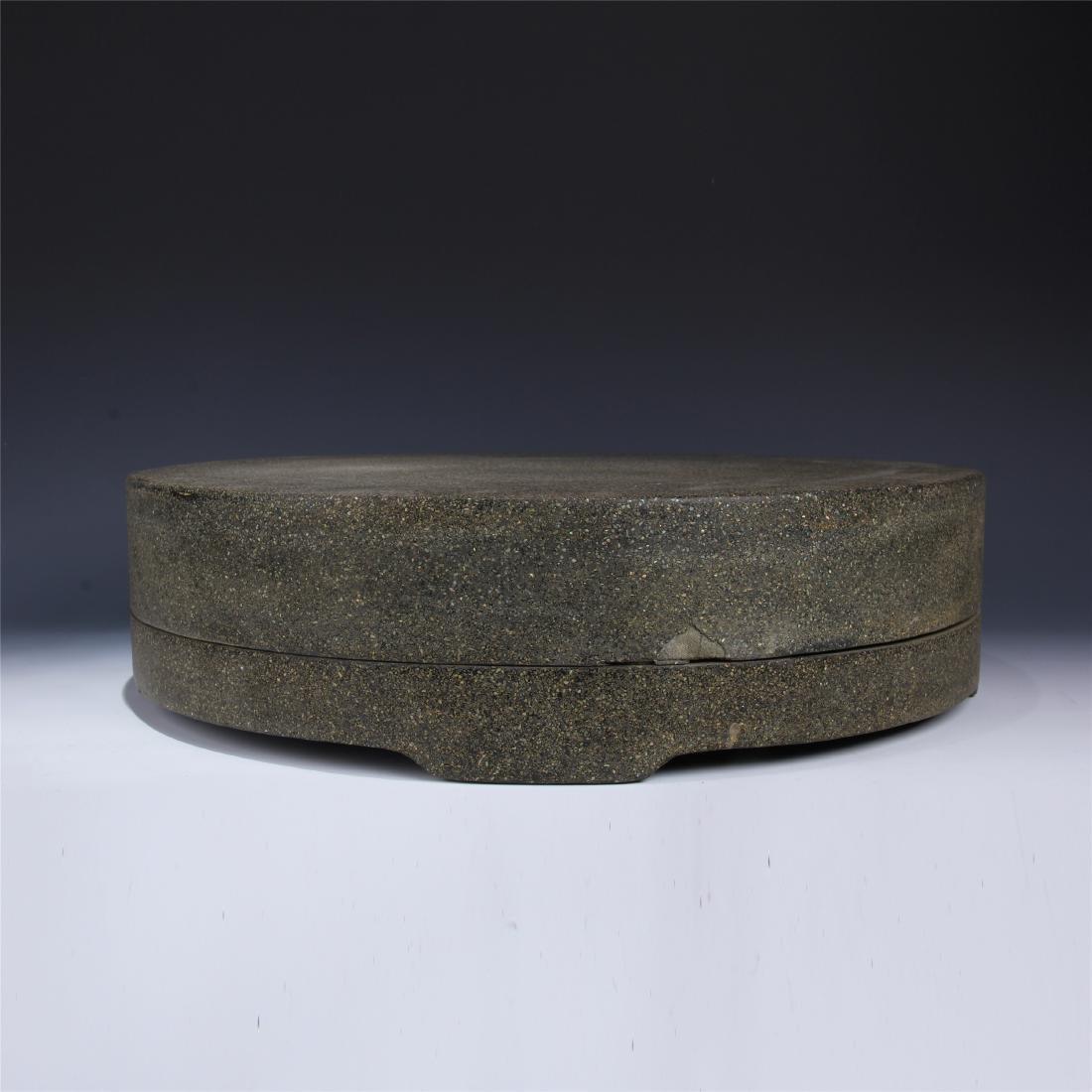 CHINESE BLACK LACQUERED ROUND BOX