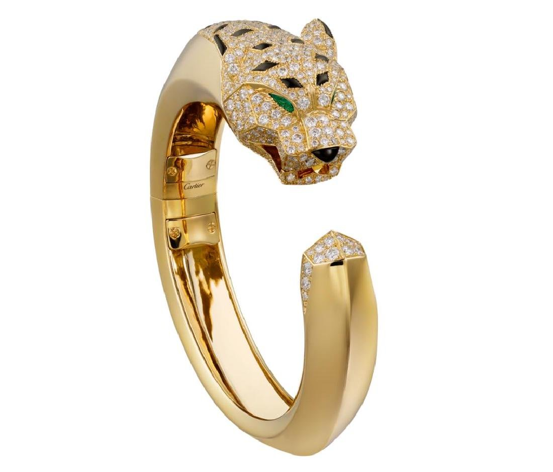 CARTIER PANTHERE DE CARTIER 18K GOLD EMERALD DIAMOND