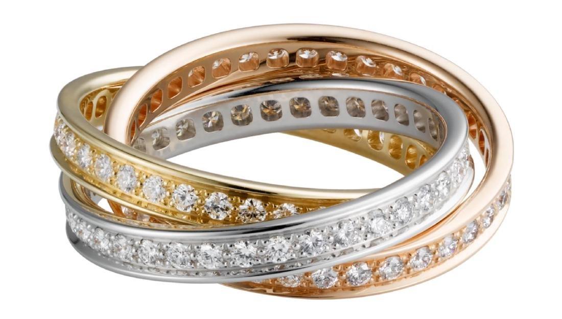 CARTIER TRINITY 18K GOLD DIAMOND RING