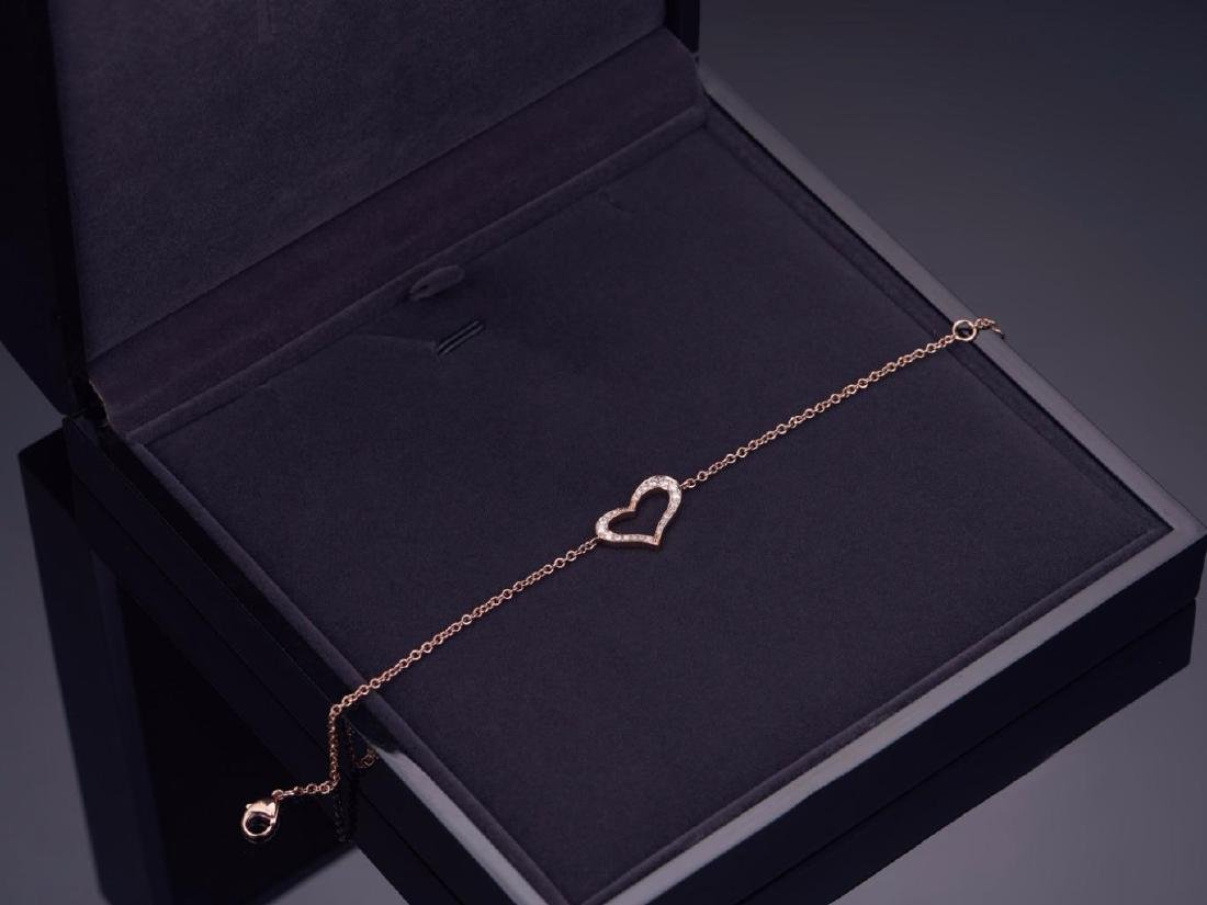 PIAGET 18K ROSE GOLD HEART BRACELET