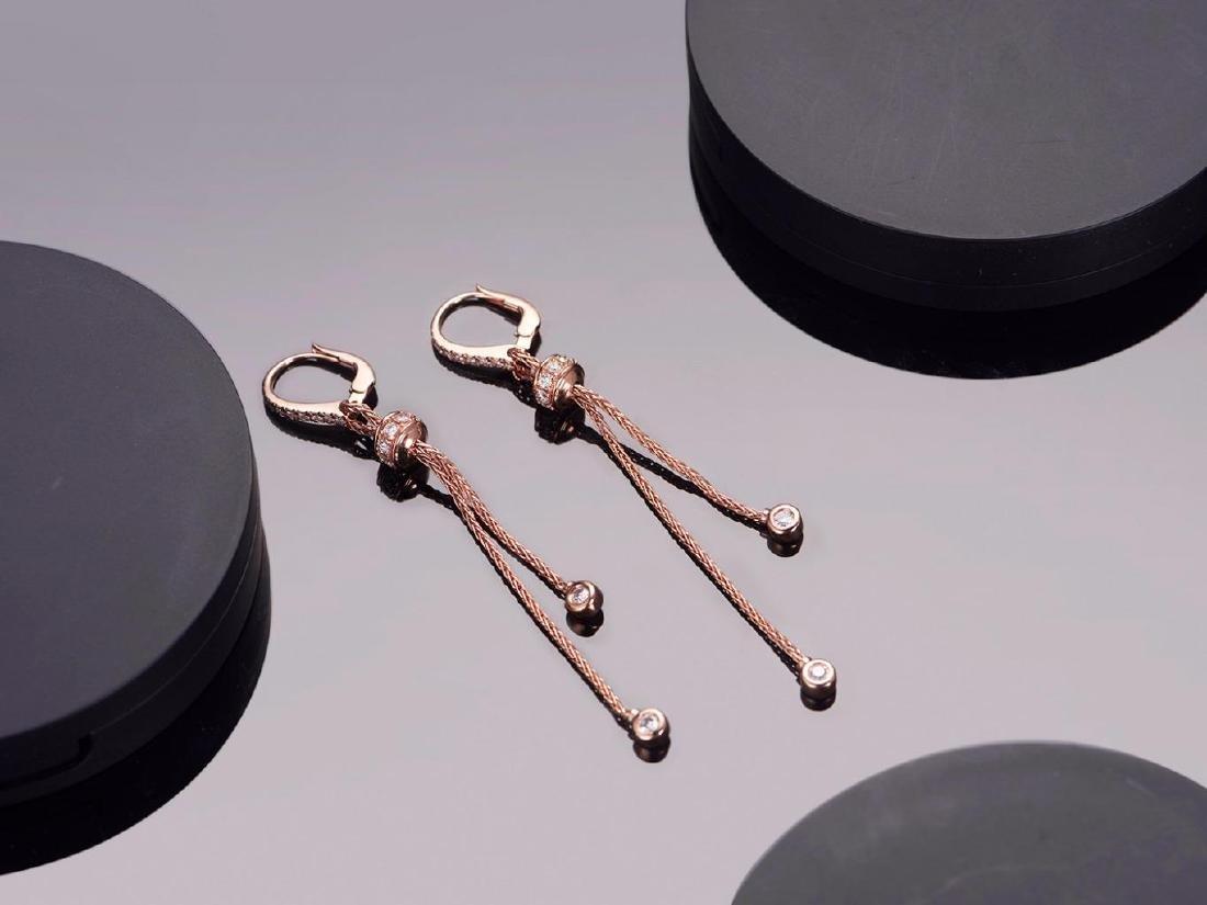 PIAGET 18K ROSE GOLD DIAMOND EARRINGS
