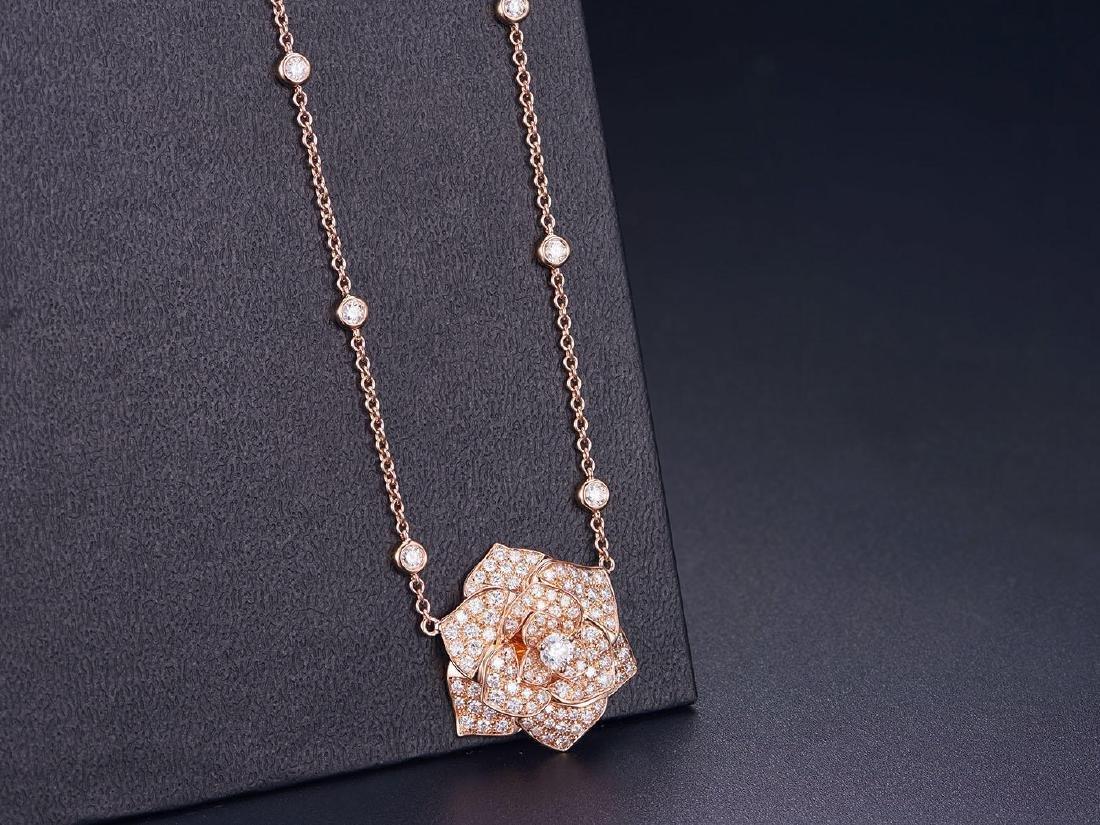 PIAGET 18K ROSE GOLD DIAMOND NECKLACE
