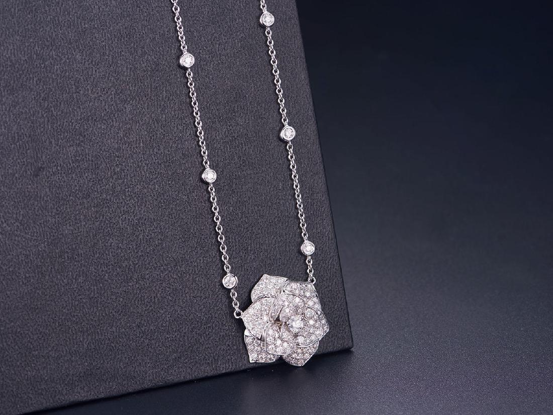 PIAGET 18K WHITE GOLD DIAMOND NECKLACE