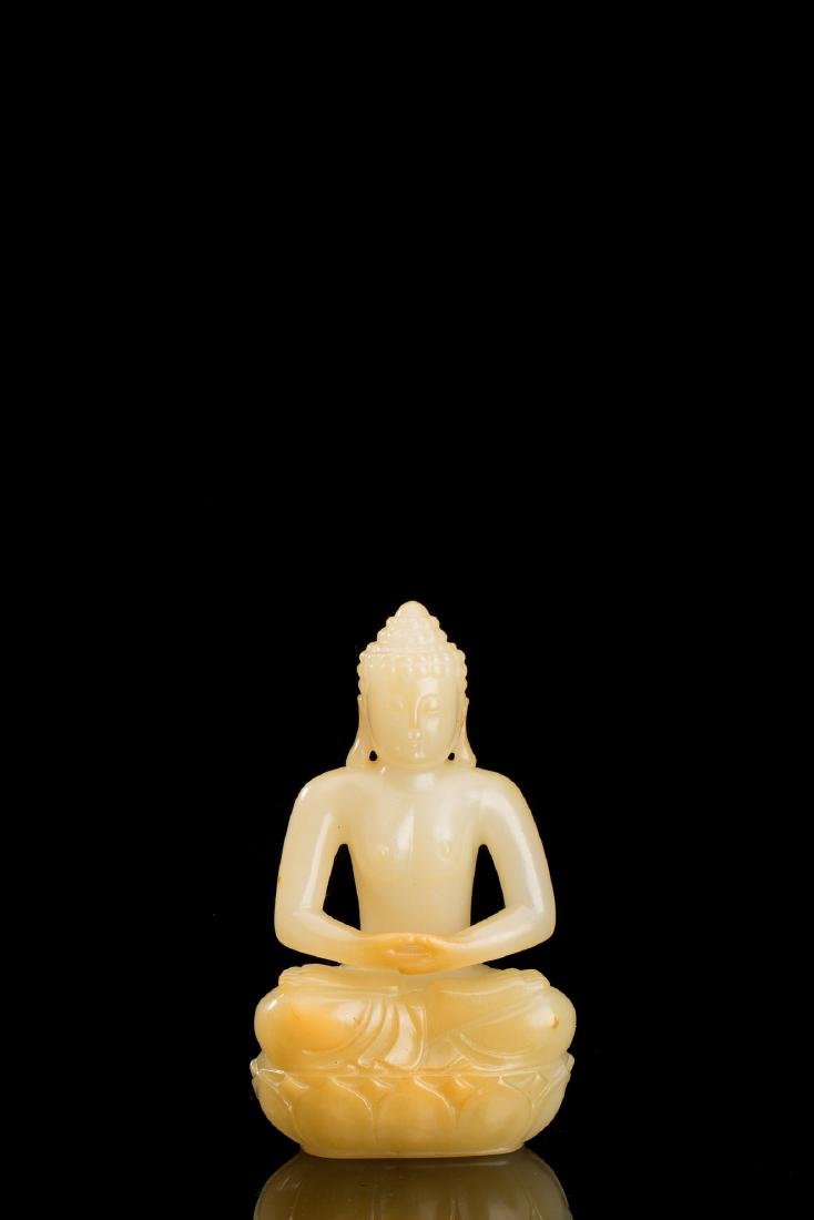 CHINESE JADE SEATED BUDDHA
