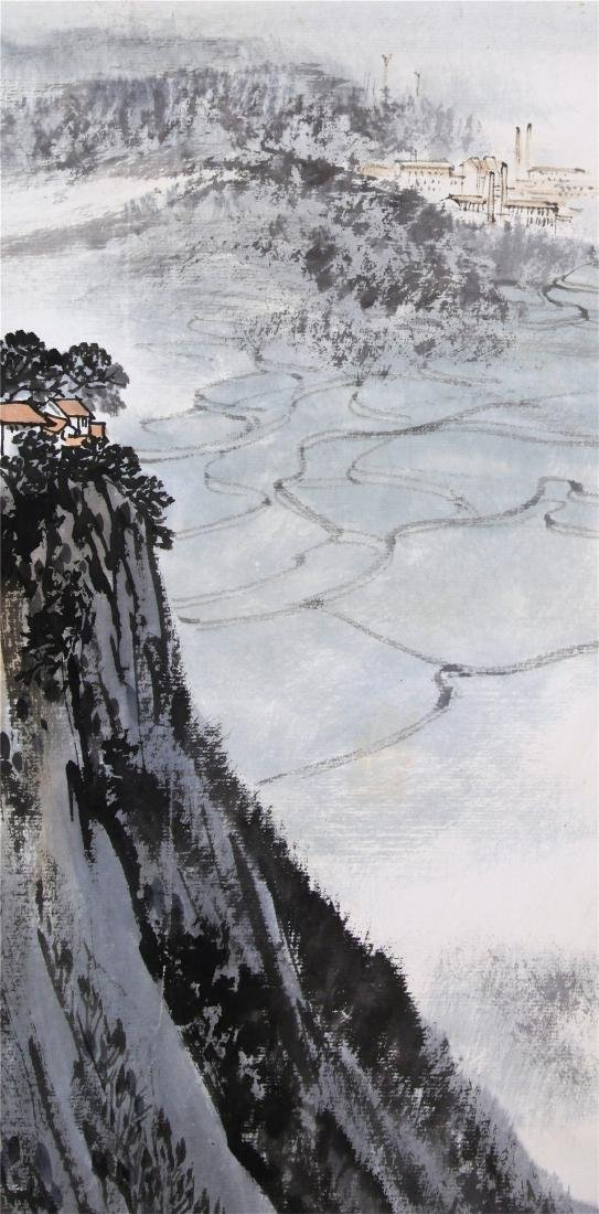 CHINESE SCROLL PAINTING OF MOUNTAIN VIEWS WITH - 3