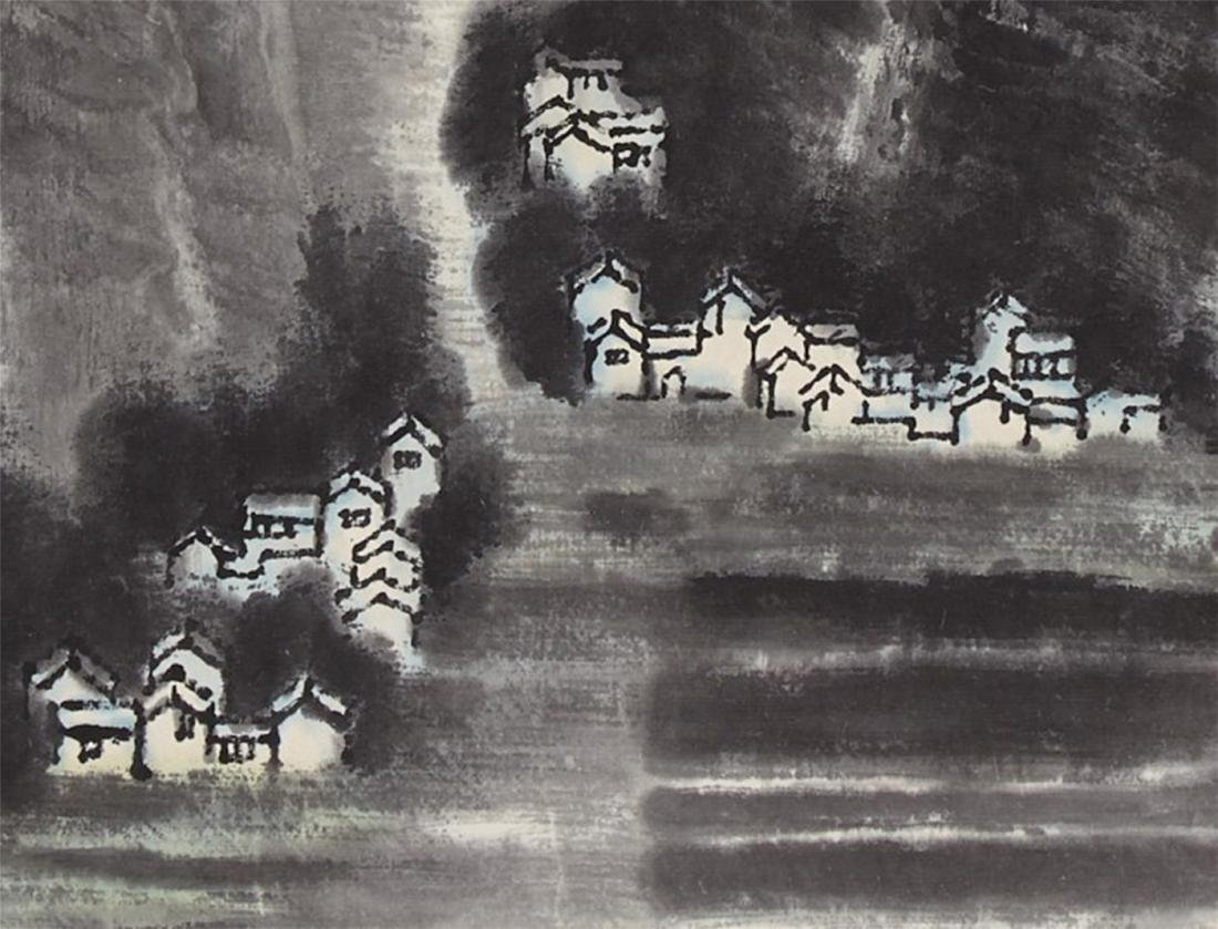 CHINESE SCROLL PAINTING OF MOUNTAIN VIEWS - 4