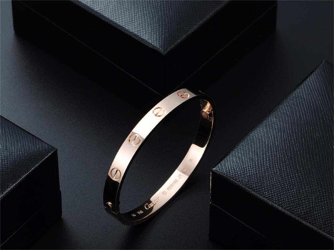 CARTIER STYLE 18K ROSE GOLD LOVE BRACELET