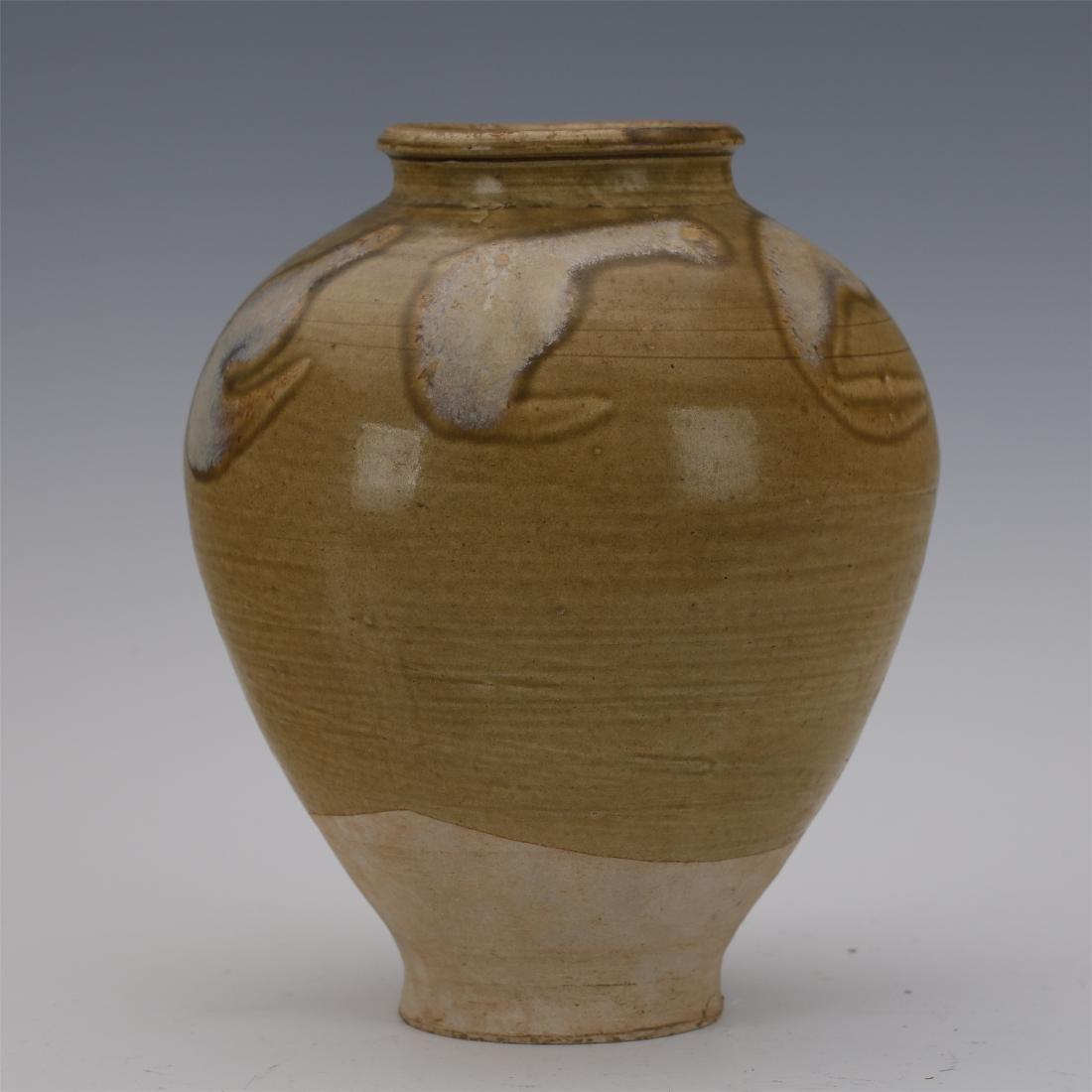 CHINESE PORCELAIN BROWN GLAZE WATER JAR