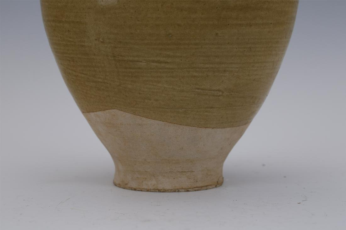 CHINESE PORCELAIN BROWN GLAZE WATER JAR - 4