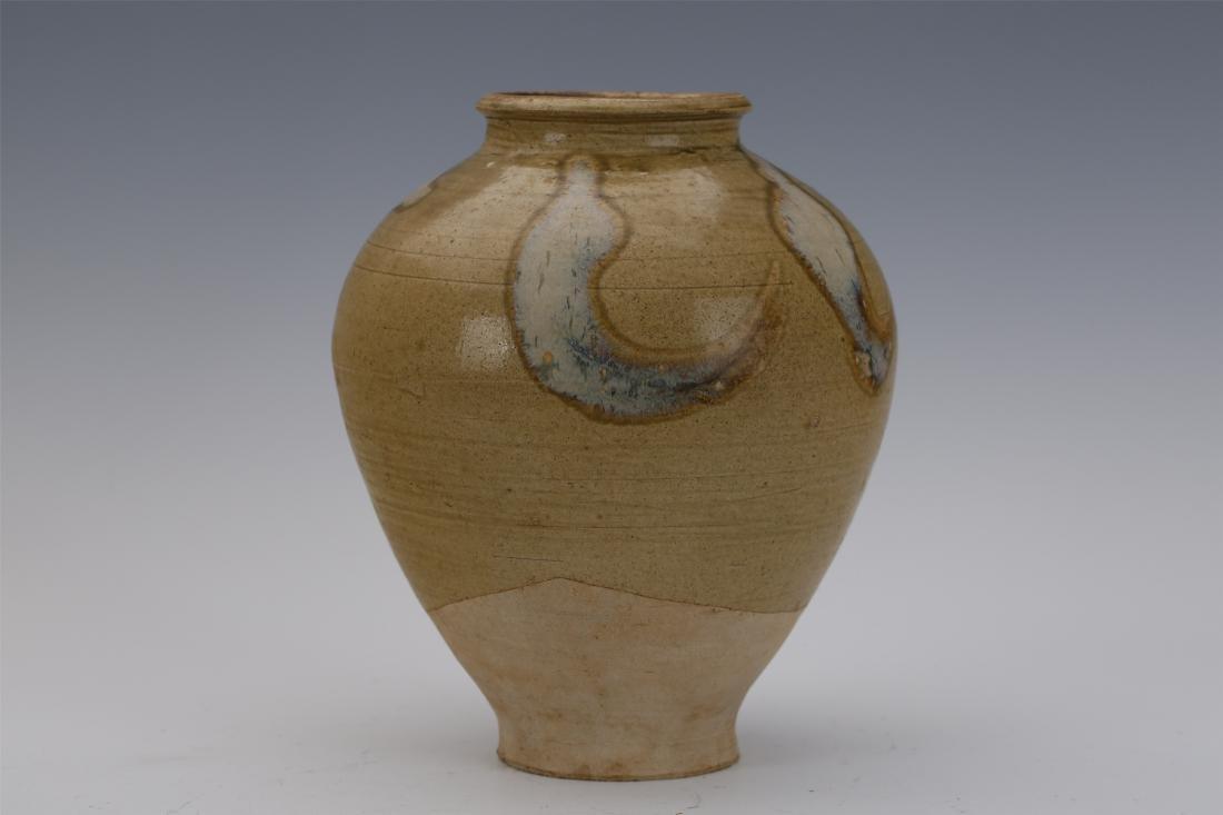 CHINESE PORCELAIN BROWN GLAZE WATER JAR - 5
