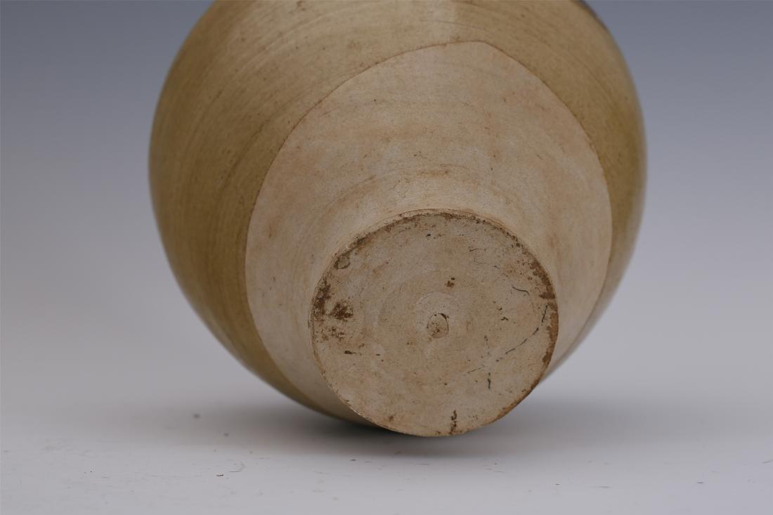 CHINESE PORCELAIN BROWN GLAZE WATER JAR - 6