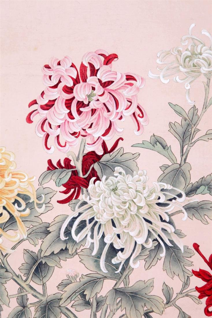 CHINESE SCROLL PAINTING OF FLOWER IN VASE - 2