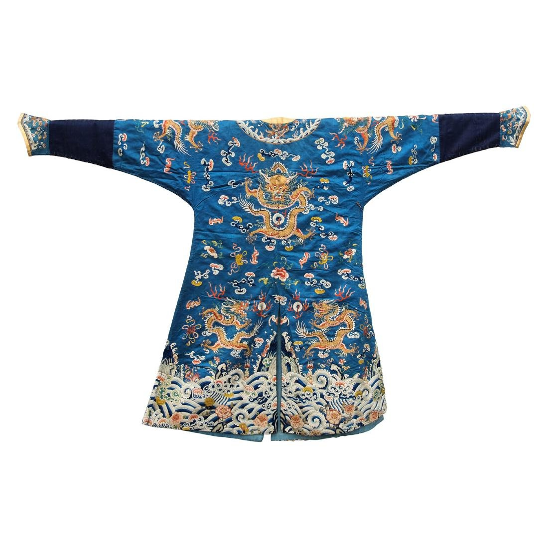 ca4ec9b312b6e CHINESE BLUE EMBROISE DRAGON IMPERIAL ROBE