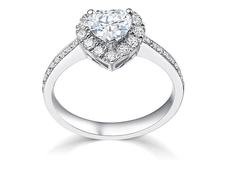 GIA CERTIFICATED DIAMOND PLANTIUM LADY'S RING