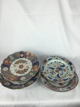 Four Imari Porcelain Plates 19thc