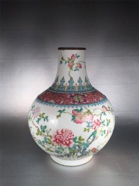 Chinese Famille Rose Estow Vase Republic Period