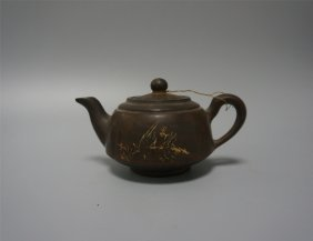 Chinese Zisha Clay Yixing Tea Kettle
