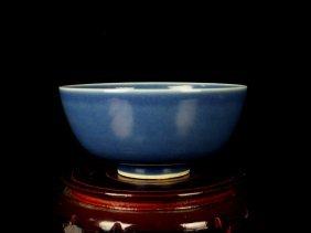 Chinese Porcelain Blue Glaze Bowl