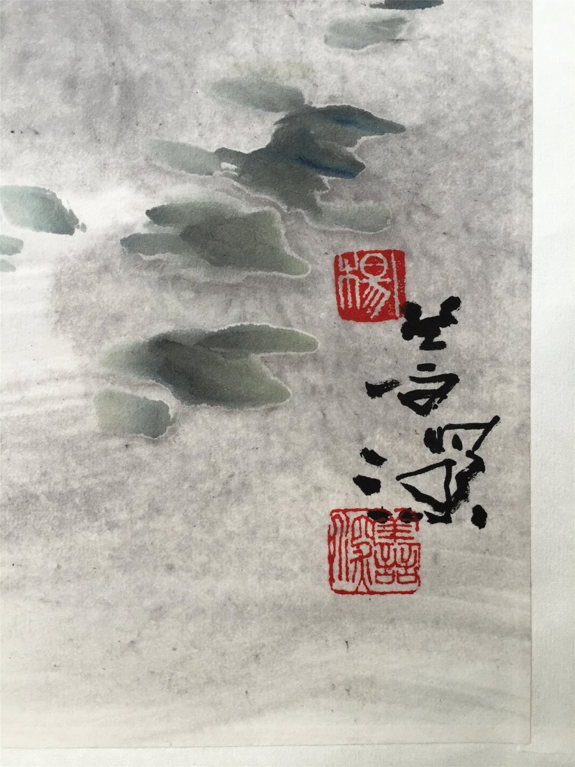 CHINESE SCROLL PAINTING OF BIRD ON TREE - 3