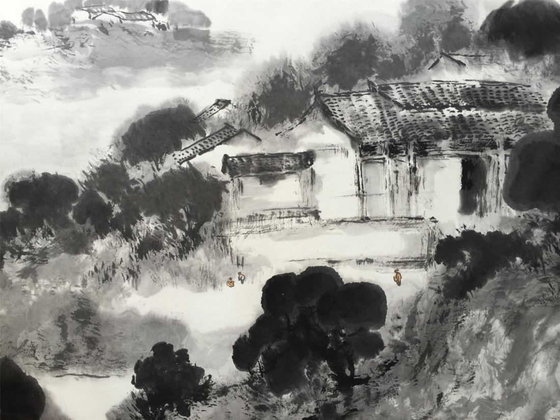 CHINESE HARIZONAL SCROLL PAINTING OF MOUNTAIN VIEWS - 3