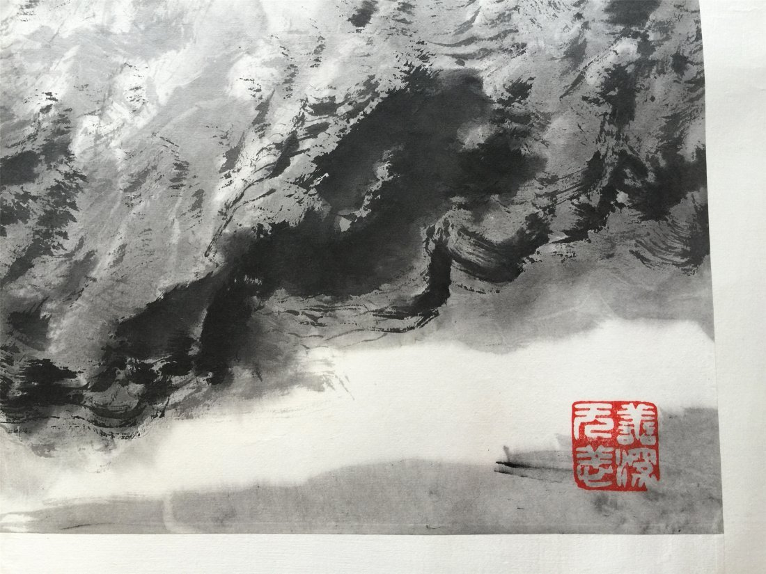 CHINESE HARIZONAL SCROLL PAINTING OF MOUNTAIN VIEWS - 4