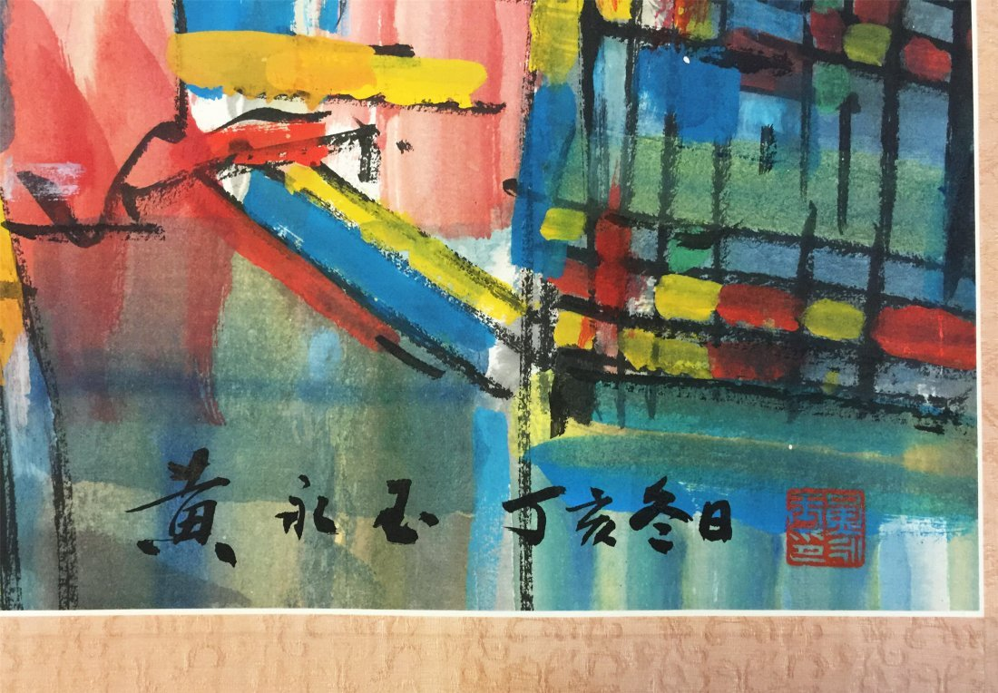 CHINESE SCROLL PAINTING OF CITY VIEWS - 4