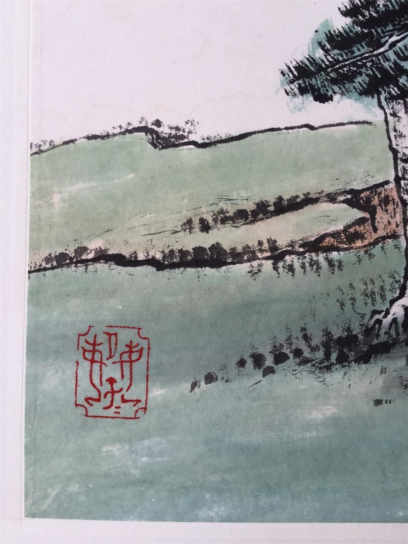 CHINESE SCROLL PAINTING OF MOUNTAIN VIEWS - 2
