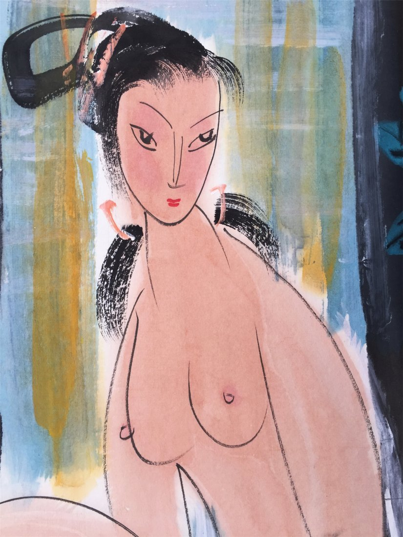 CHINESE SCROLL PAINTING OF NUDE - 2