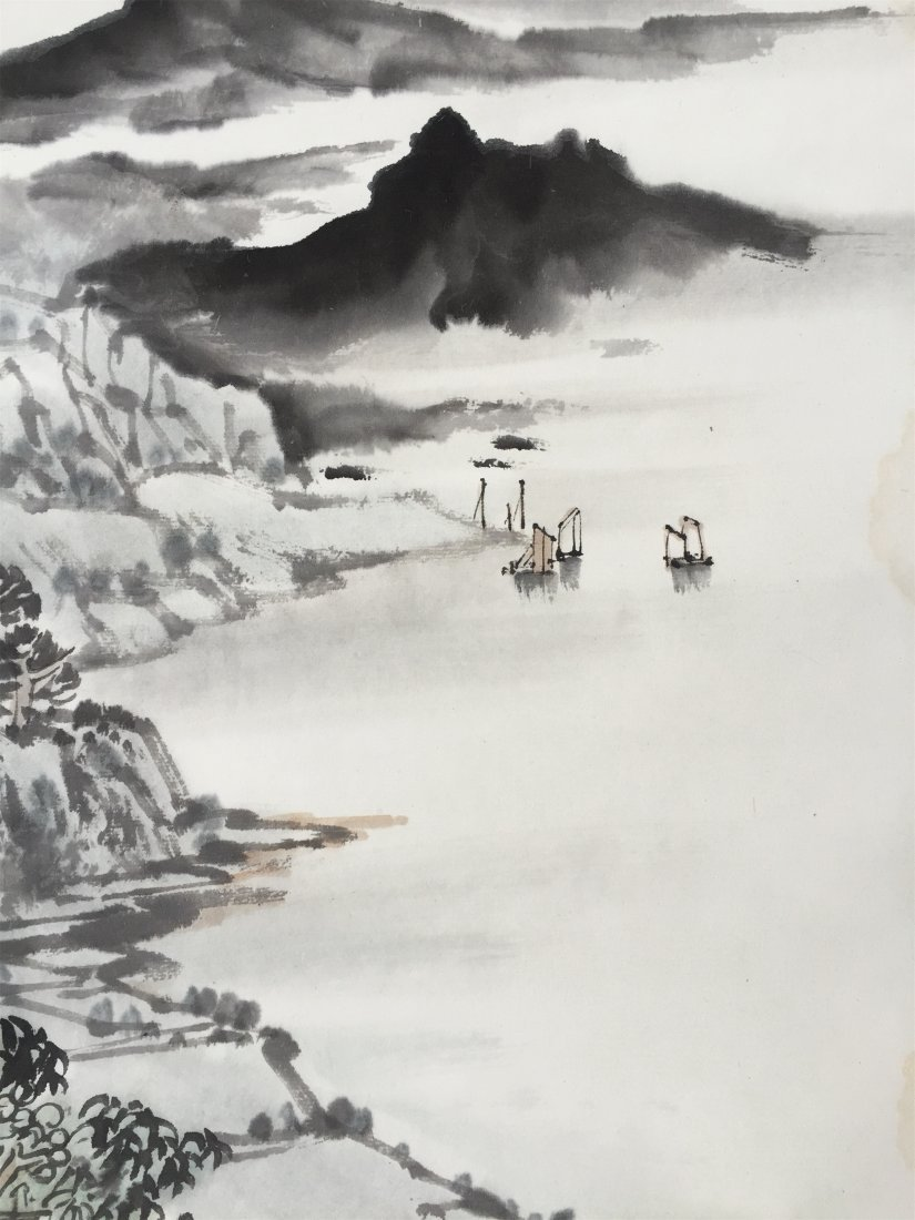 CHINESE SCROLL PAINTING OF LAKEVIEWS - 3