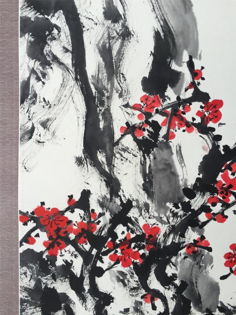 CHINESE SCROLL PAINTING OF PLUM TREE - 2