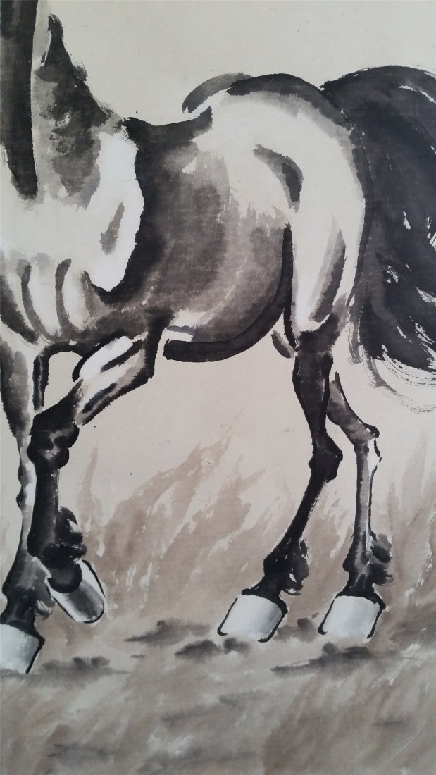 CHINESE SCROLL PAINTING OF HORSE - 3