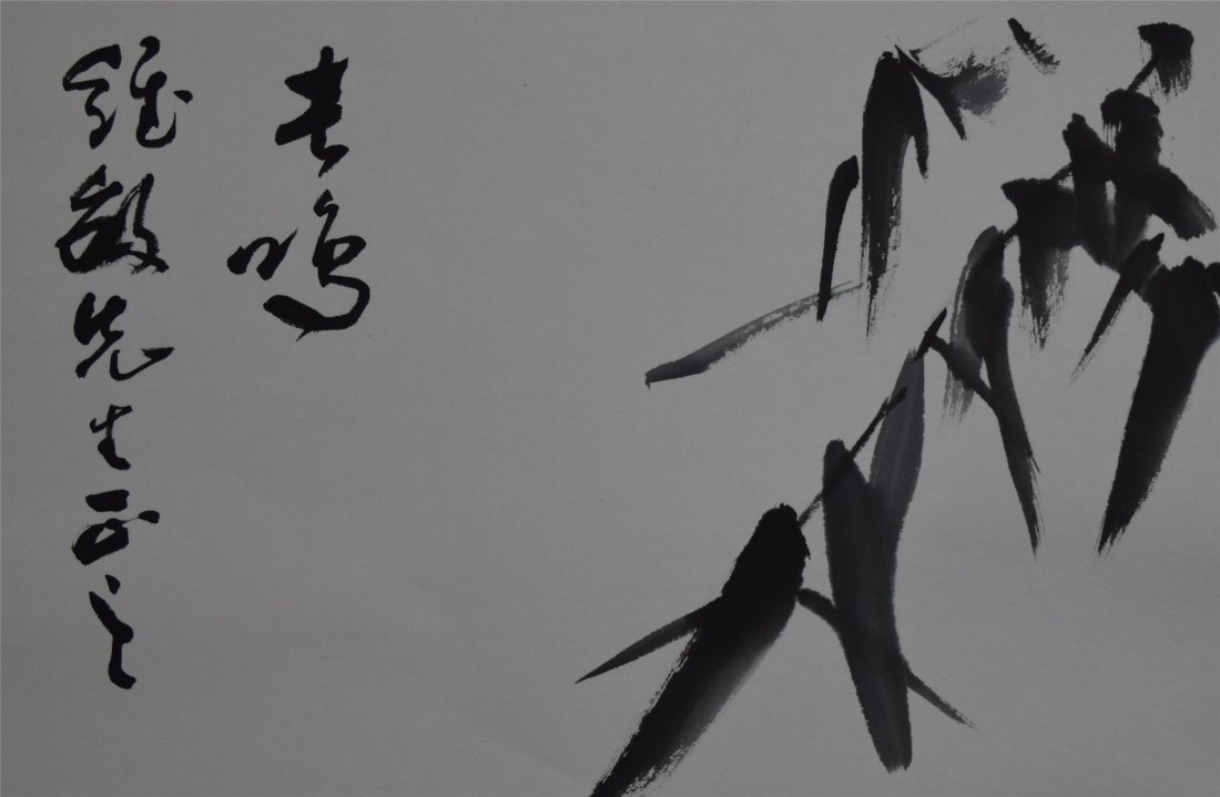 CHINESE SCROLL PAINTING OF BIRD - 2