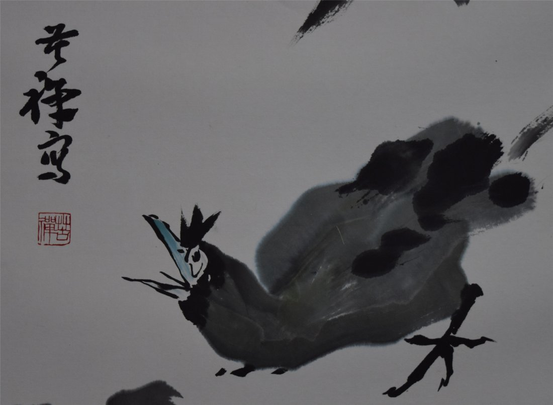 CHINESE SCROLL PAINTING OF BIRD - 3