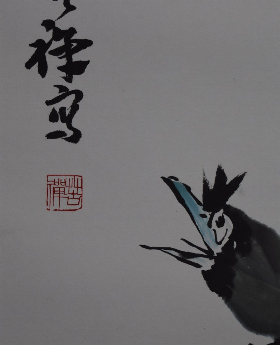 CHINESE SCROLL PAINTING OF BIRD - 4