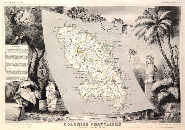 22: Colonies Francaises. Isle de Martinique-Amerique du