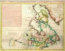 126 Carte du Canada ou de la Nouvelle France  des D