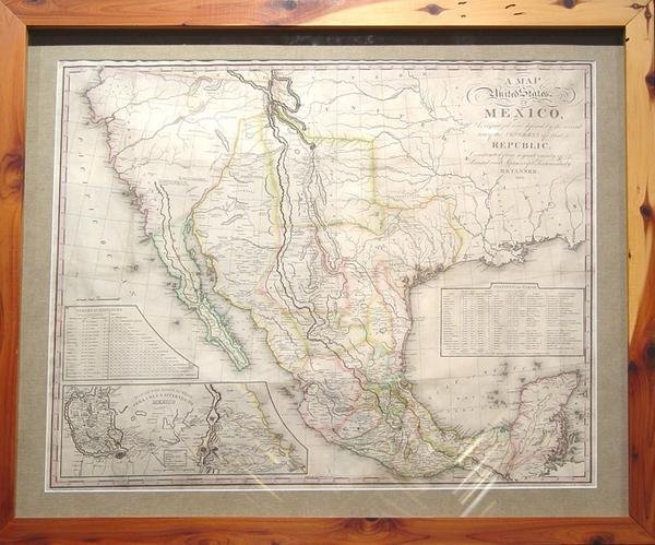 156: A Map of the United States of Mexico, As organized